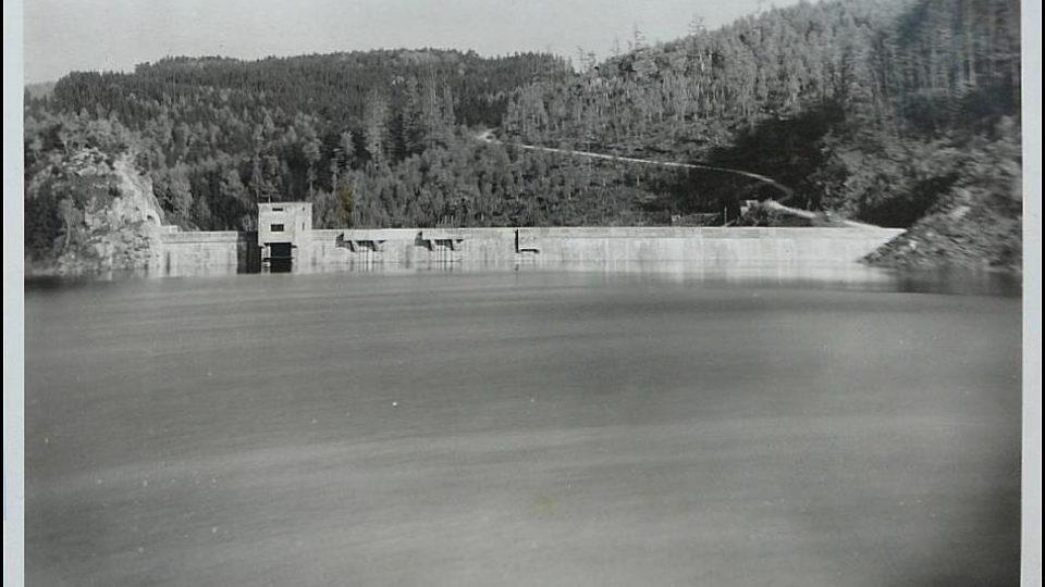 Sečská přehrada v roce 1947