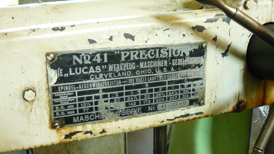 Nejstarší stroj ve frézárně