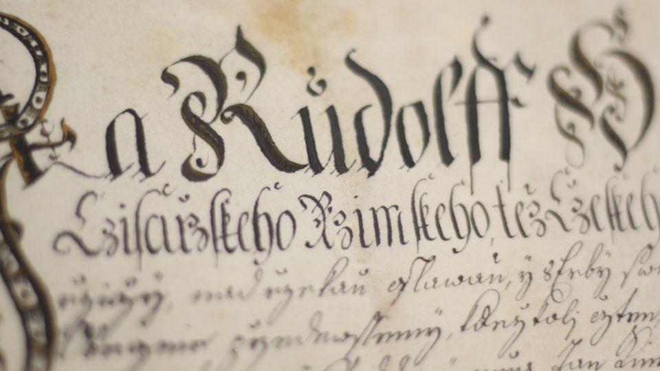 Muzeum Horního Pooslaví, listina, detail