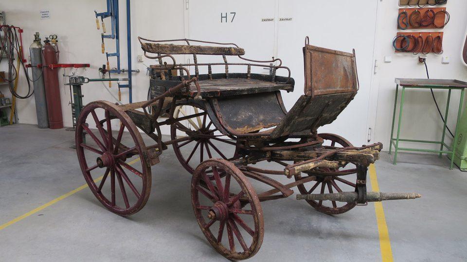 Jedním z posledních přírůstků Muzea řemesel je lovecká bryčka letohradského hraběte Stubenberga