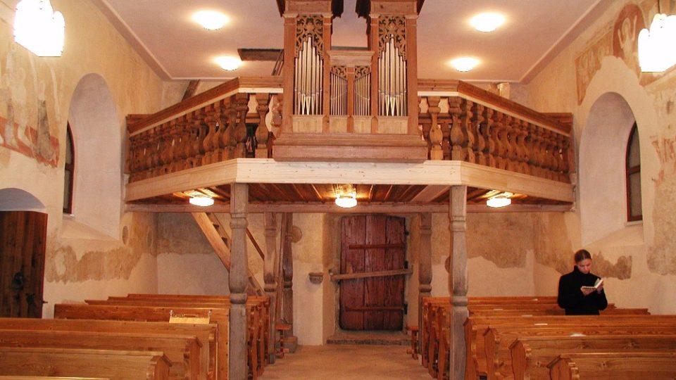 Stále funkční varhany v kostele sv. Mikuláše ze 16.století