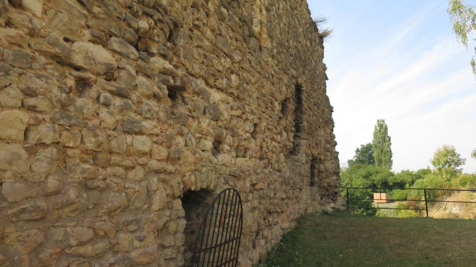 Zříceniny zdi hradního paláce