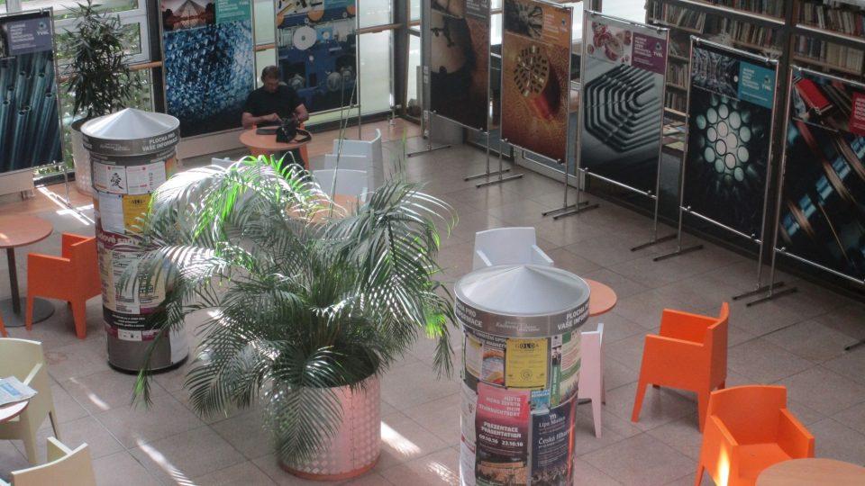 Atrium pro návštěvníky, čtenáře i studenty