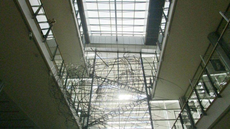 Pohled na efektní strop