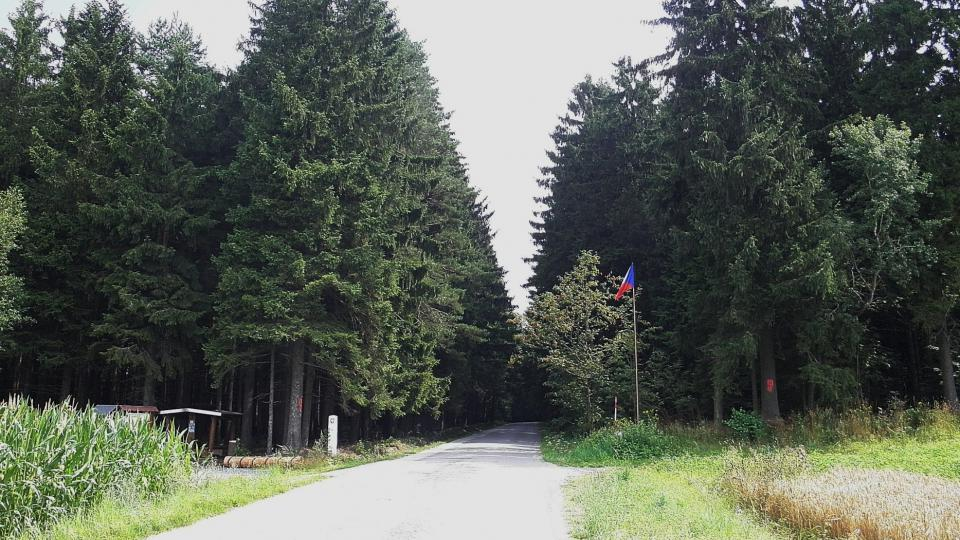 Zemská hranice na Českomoravské Vysočině nedaleko Blažkova