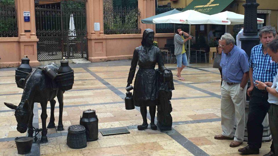 La Lechera - sousoší vzdává hold obyčejným obyvatelům Ovieda