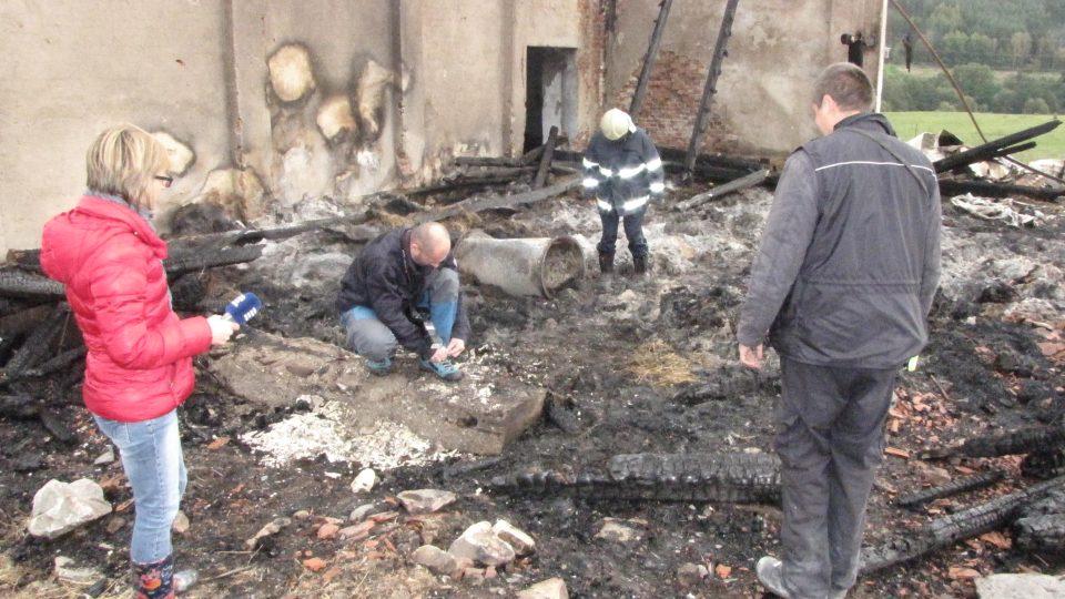 Vyšetřovatel požárů František Veis pracuje přímo na požářišti ve Větřní. Jeho úkolem je zjistit, proč začal sklad sena hořet