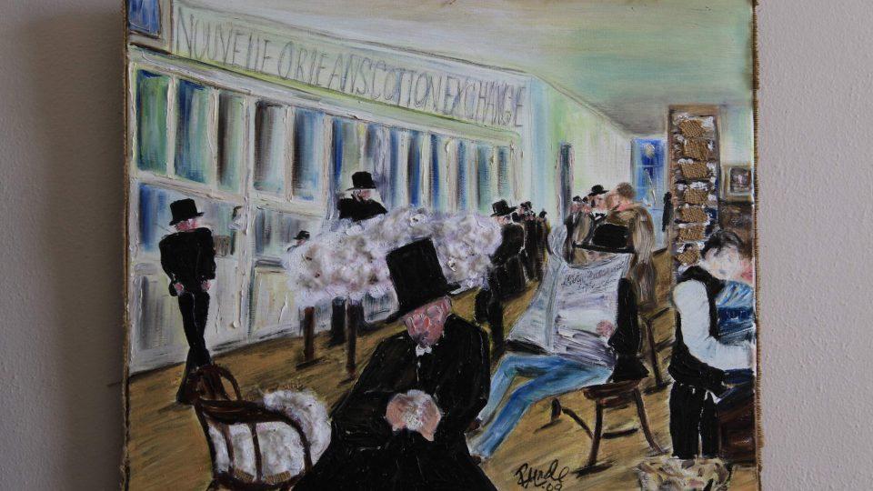Degas přijel do New Orleans na prázdniny. Byl velmi zvědavý, jak vypadá Amerika