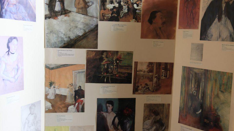 Obrazy, které Degas v New Orleans namaloval, si odvezl s sebou do Francie