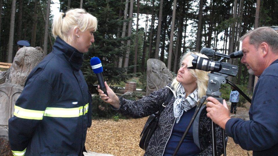 Tisková mluvčí jihočeských hasičů Vendula Matějů