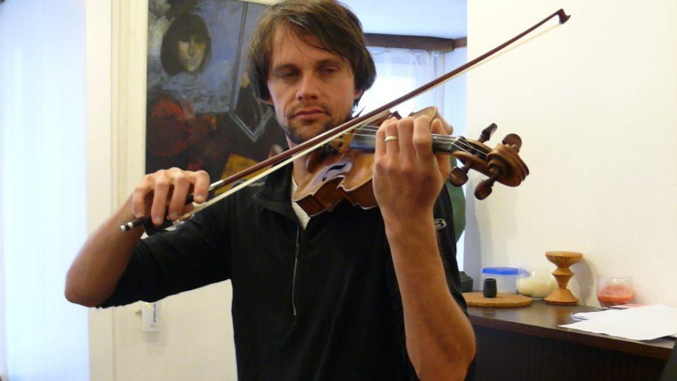 Koncertní mistr Jihočeské filharmonie Martin Týml