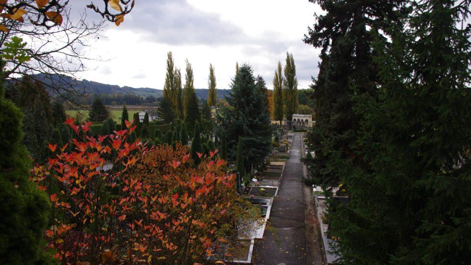 Dušičková nálada na šumperském hřbitově