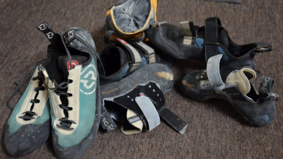 Speciální boty na lezení tzv. lezečky