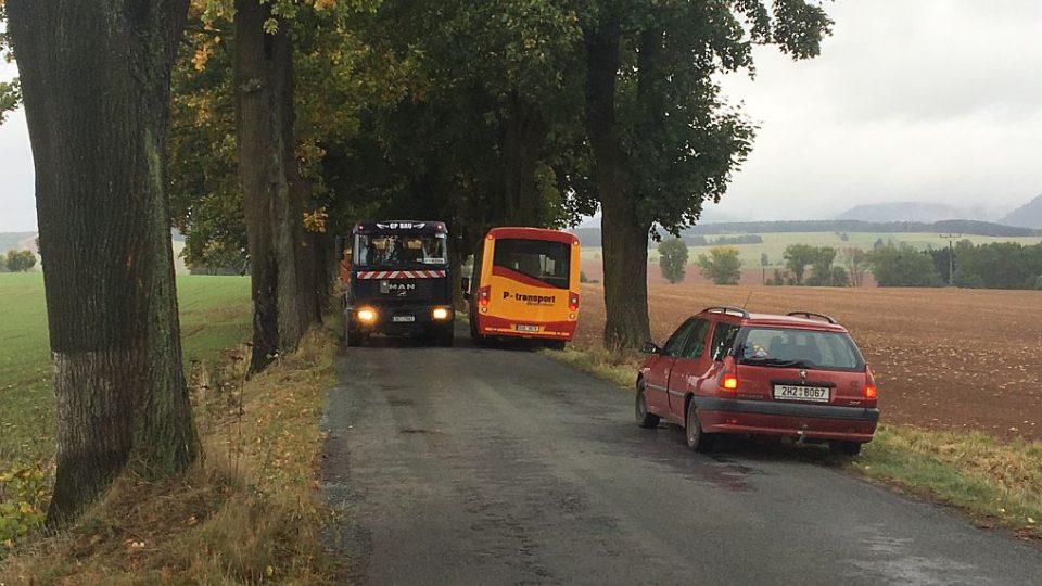 Unikátní alej víc než stoletých stromů komplikuje opravu silnice do Božanova na Broumovsku