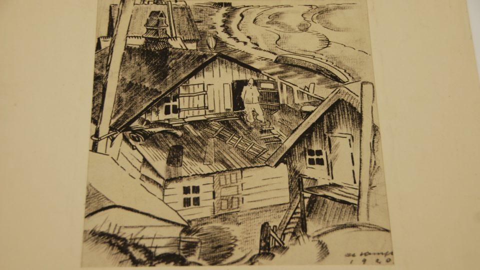Ukázky díla Alfreda Kunfta, které liberecká galerie Lázně získala do svých sbírek