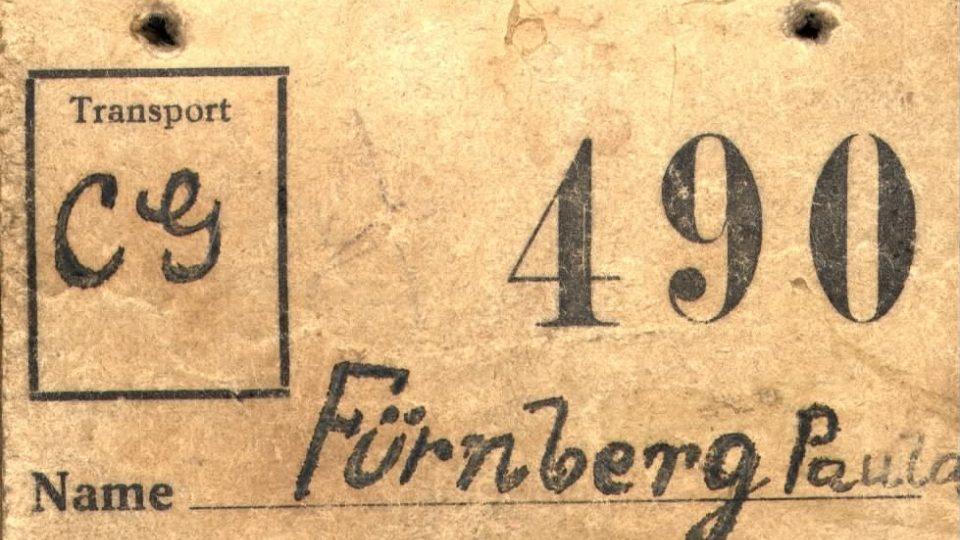 Číslo transportu židů do Terezína