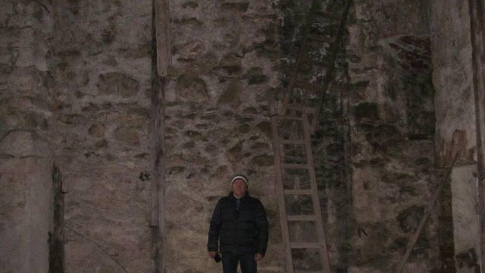 Bývalý pivovar v areálu kláštera ve Vyšším Brodě, snímek z ledárny