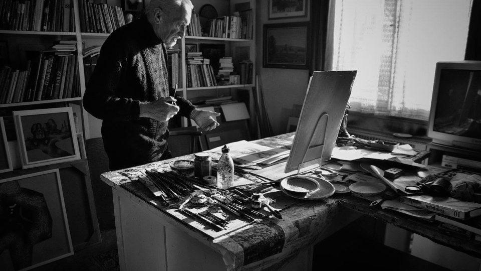 U malíře a grafika, vášnivého dýmkaře, milovníka poezie a jazzu Miloše Petery