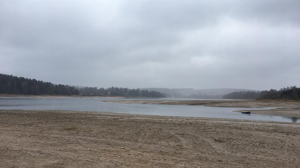 Hladina sečské přehrady je 5 metrů pod normálem