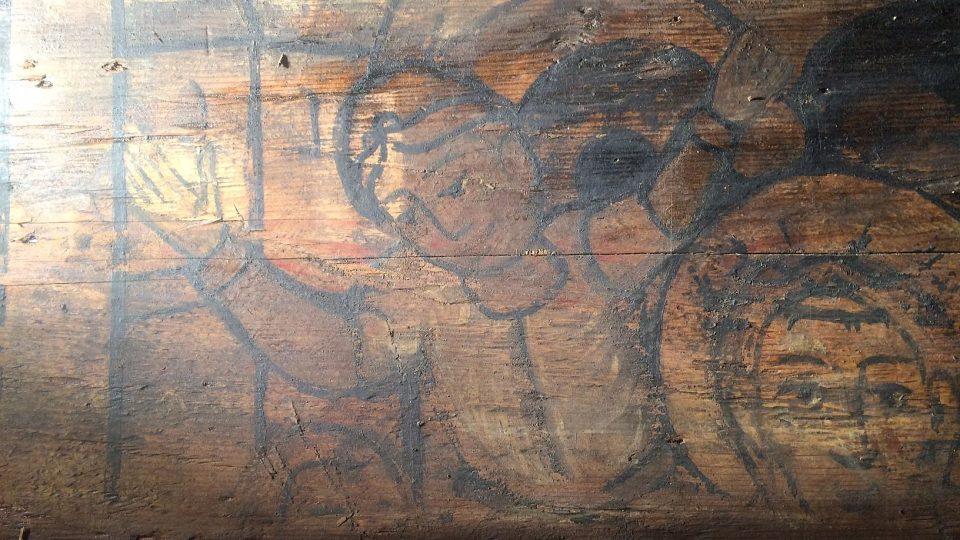Při rekonstrukci kostelíka Svatého Mikuláše v Hradci Králové se objevily malby ze 17. století