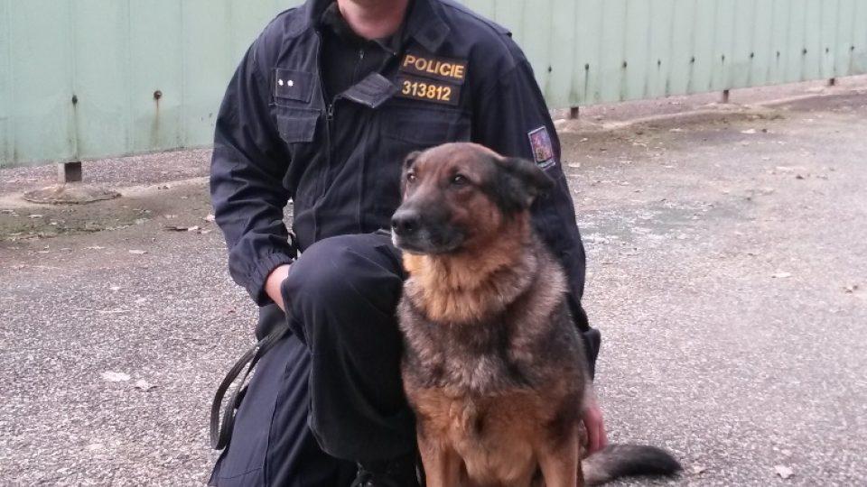 Vít Schwager působí u Policie Jihočeského kraje jako psovod