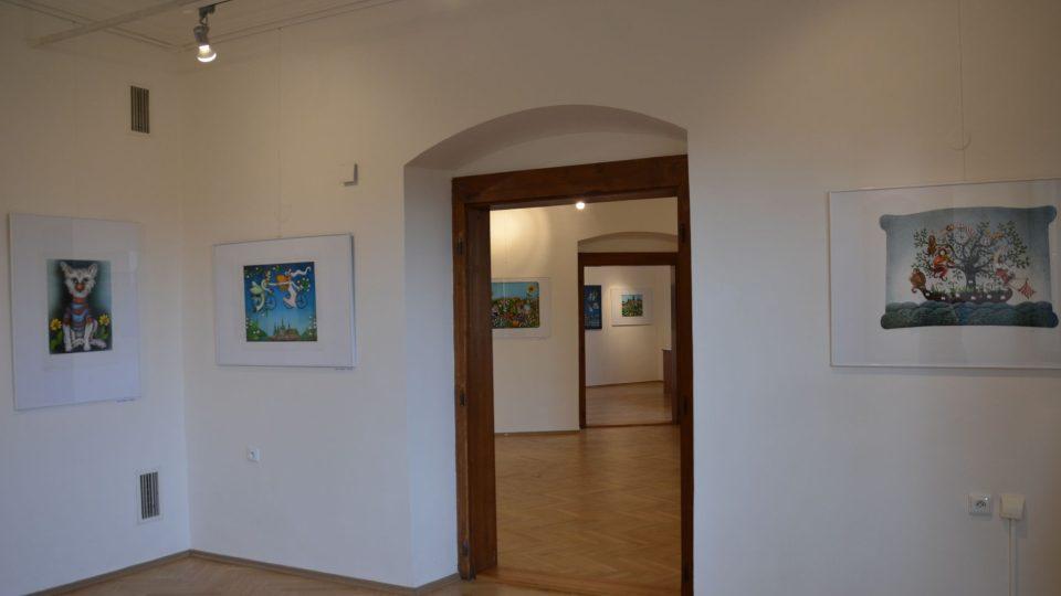 Tvrz má dvě galerie, v jedné z nich teď vystavuje Emma Srncová