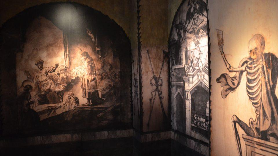 3D model krypty s freskami