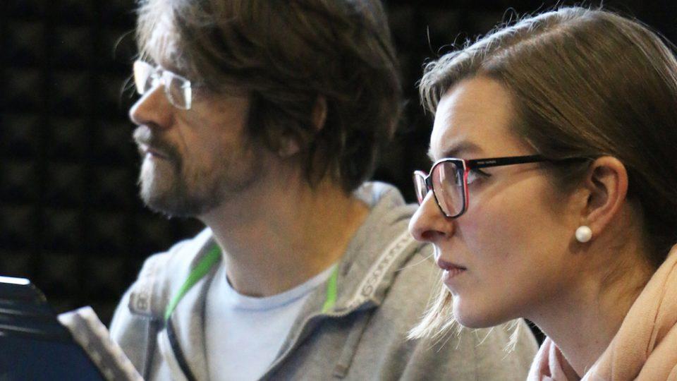 Dan Bárta a Štěpánka Balcarová na zkoušce Concept Art Orchestra