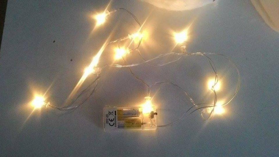 Výroba svítícího sněhuláka
