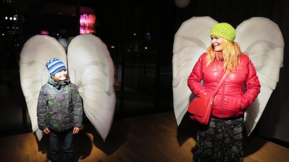 """Smyslem výstavy """"Každý jsme anděl"""" je sbírat finanční příspěvky pro organizaci Strom života"""