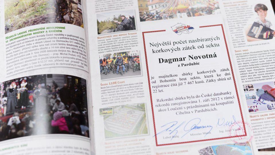 Sbírka Dagmar Novotné byla v září 2012 zapsaná do České knihy rekordů