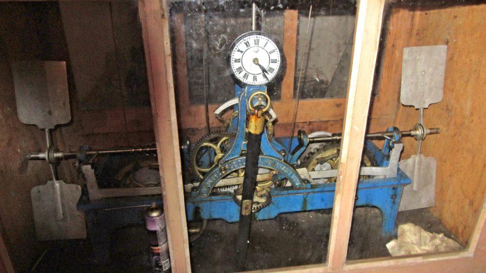 Kontrolní hodiny věžního mechanizmu