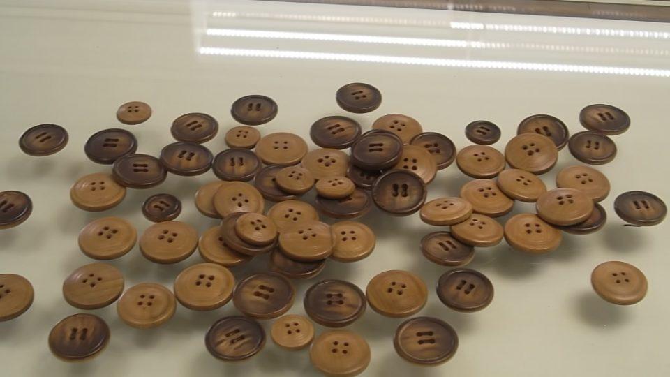 Raritou sbírky jsou kamenáčové knoflíky