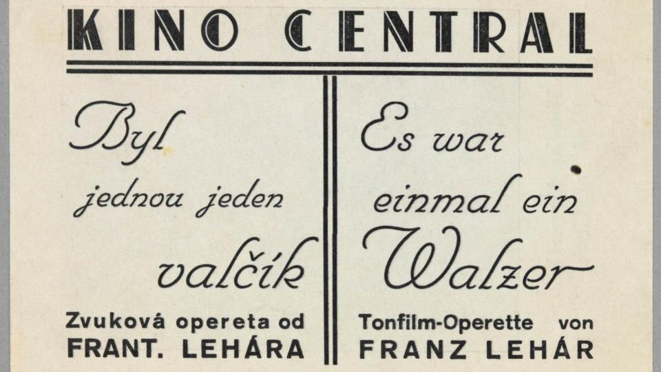 Kino Central - dobový plakát