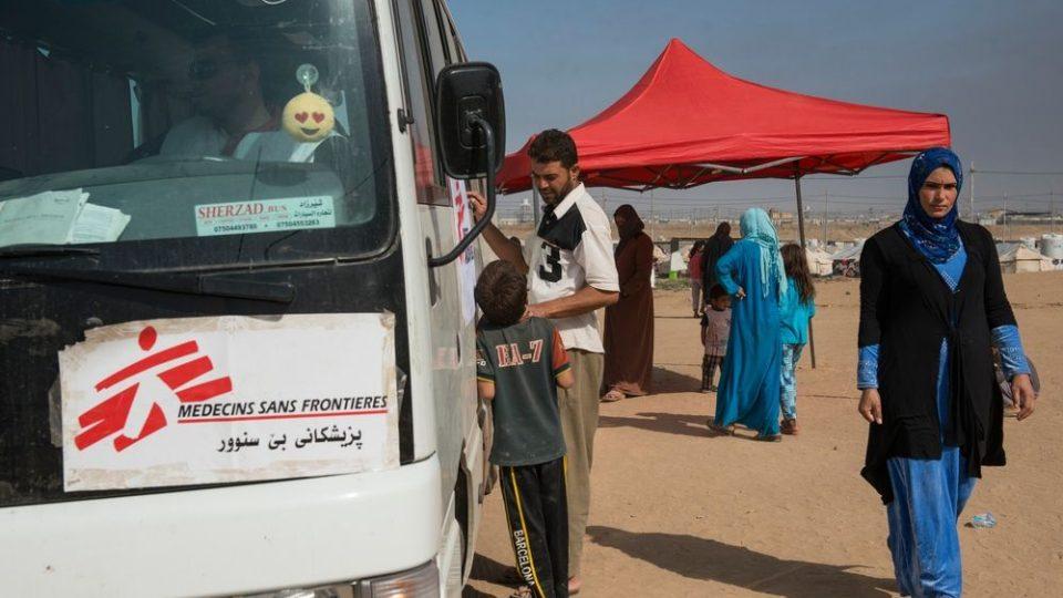 Mobilní klinika Lékařů bez hranic v Iráku