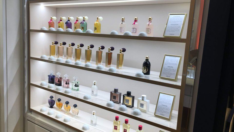 Expozice Velkého muzea parfémů v Paříži