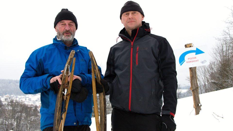 Iniciátoři obnovy (zleva) Miloš Morávek a Marek Hotovec