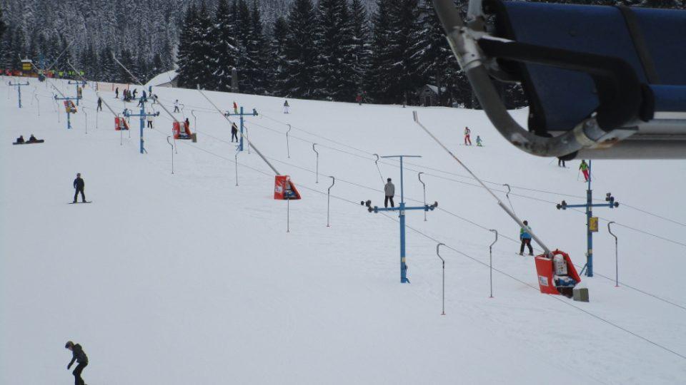 Krátký vlek pro menší lyžaře
