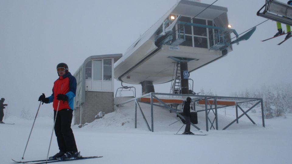 Horní stanice lanovky na Lysé hoře