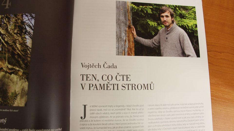 Kapitola v knize 25 let příběhů Národního parku Šumava, která pojednává o výzkumu Vojtěcha Čady