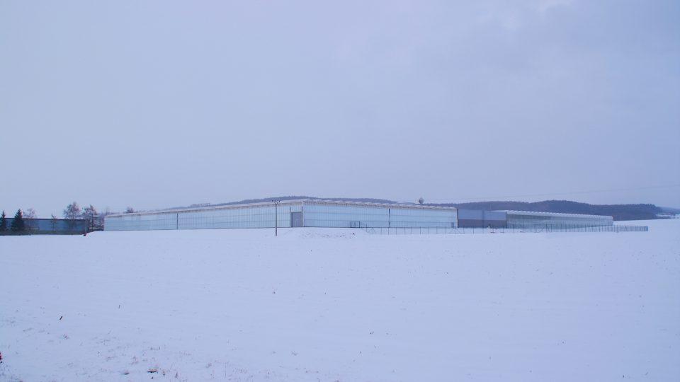 Skleník v haňovicích vypadají zejména v zimě jako futuristické vesmírné středisko