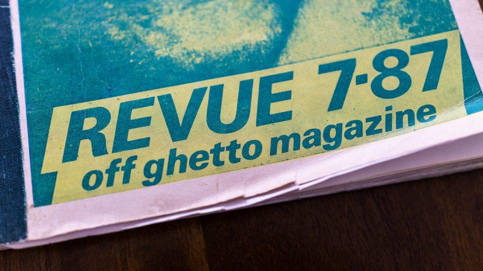 Titulní strana Revolver Revue z roku 1987