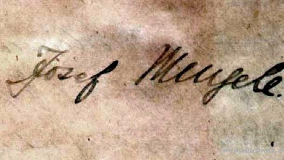 Podpis Dr. Josefa Mengeleho