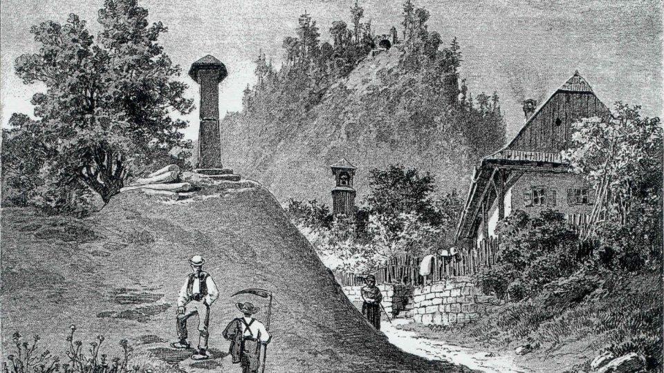 Historická rytina Žampachu