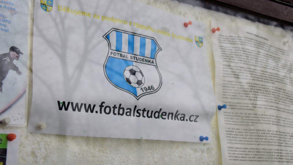 Nástěnka fotbalového klubu Studénka je zatím v provozu