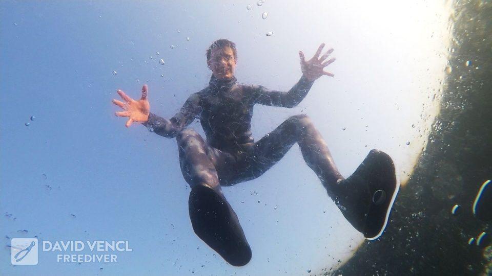 Podvodní potápění na Miladě
