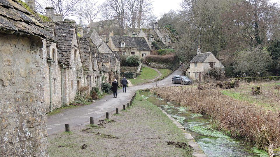 Arlington Row v anglické vesničce Bilbury je památkově chráněná