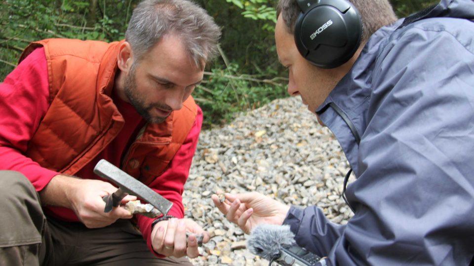 Redaktor Meteoru Petr Sobotka a paleontolog Štěpán Rak