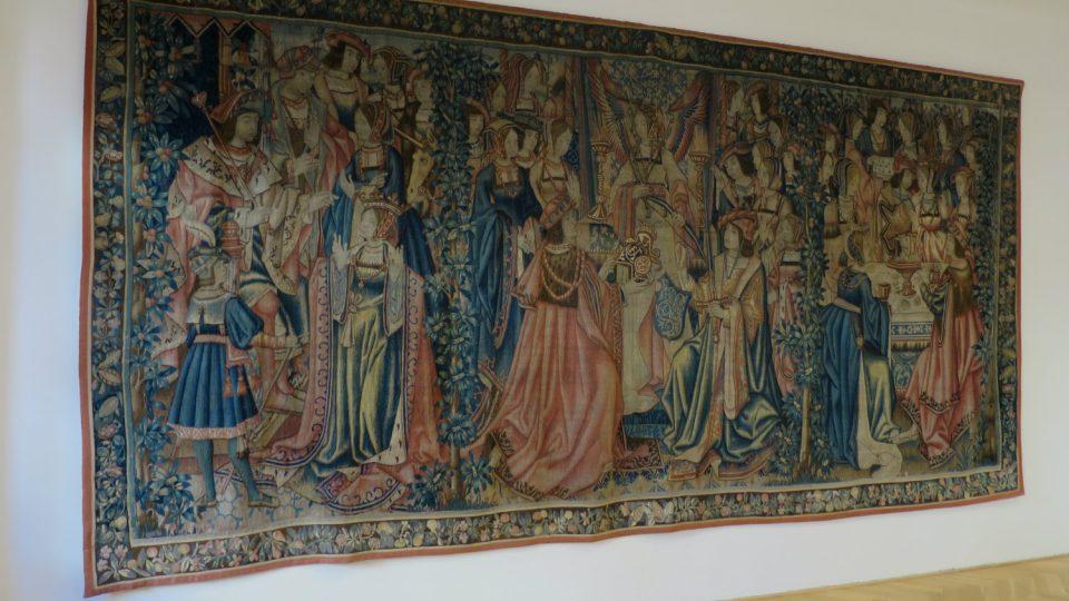 Jednou z nejcennějších památek na moravskotřebovském zámku je flanderská tapiserie ze 16. století