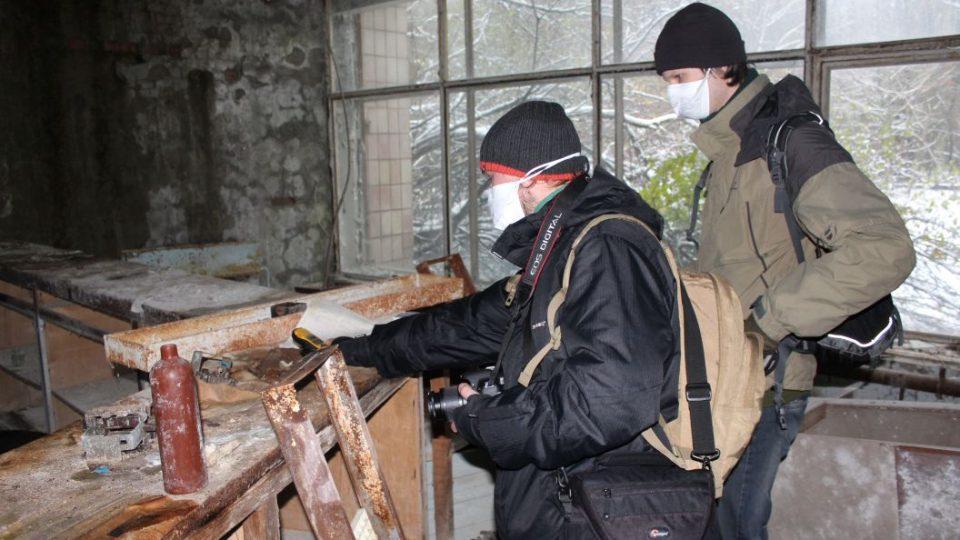 Měření jednoho z hotspotů v černobylské zakázané zóně